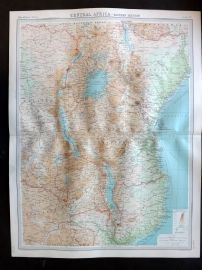 Bartholomew 1922 Large Map. Central Africa, Eastern Section.